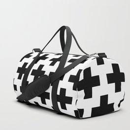 Swiss Cross B&W Duffle Bag