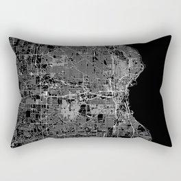 Milwaukee Black Map Rectangular Pillow
