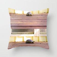 Mugshot Turtle Throw Pillow
