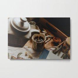 Tea Service Still Life II Metal Print