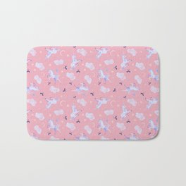 Unicorn Dreams Pink Bath Mat
