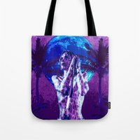 iggy Tote Bags featuring Iggy Cat by Marina Poison
