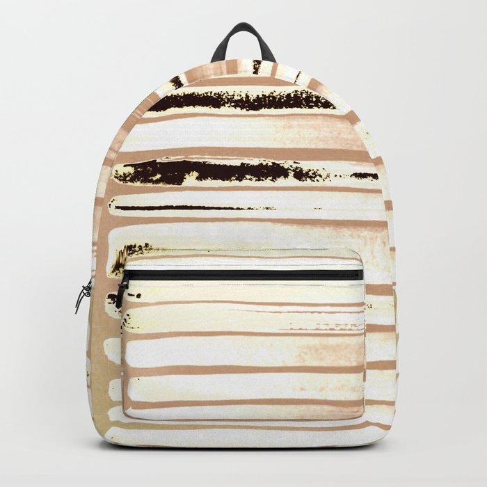 Brown Earth Lines Backpack