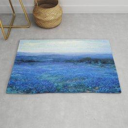 Bluebonnet Panoramic Landscape in Twilight painting by Robert Julian Onderdonk Rug