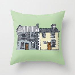 'Norfolk' House Print Throw Pillow