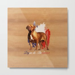 Dogue de Bordeaux Digital Art Metal Print