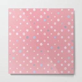 LOTS OF DOTS / tender pink / pale pink light / pale blue light Metal Print