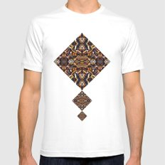 Angle Land Extrapolated White Mens Fitted Tee MEDIUM