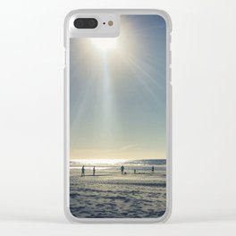 Cricket on the Beach Clear iPhone Case
