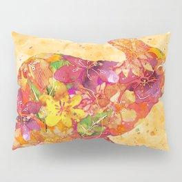 Happy Bunny flower watercolor pattern rabbit Pillow Sham