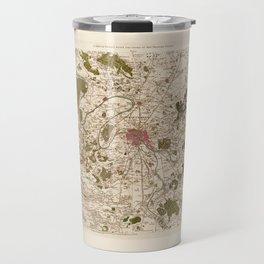Carte de France (1756) Travel Mug