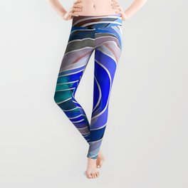 Everything Is Created Imperfect Blue Coral Leggings