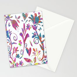 Fantasy Pink Flowers Stationery Cards
