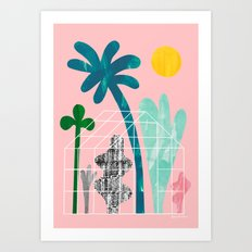 Collage Greenhouse Art Print