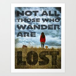 Not Lost - painting by Brian Vegas Art Print