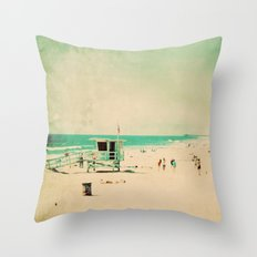 Nostalgia. Hermosa Beach photograph Throw Pillow