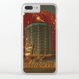 greetings from tallahassee Clear iPhone Case