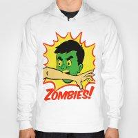 zombies Hoodies featuring Zombies! by Derek Eads