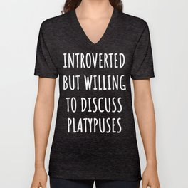 platypus lover funny introvert gifts Unisex V-Neck