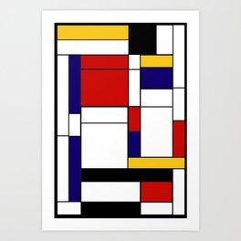 Mondrain Art Print