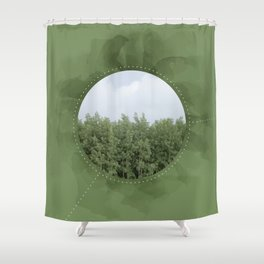 Leaves in the Trees, Trees in the Forest Shower Curtain