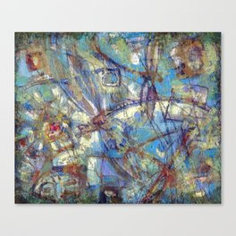 Dragonflies in blue Canvas Print