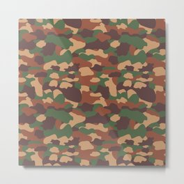 Camouflage Metal Print