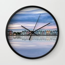 Rainbow houses in Netherlands Wall Clock