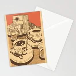 Red coffee Stationery Cards