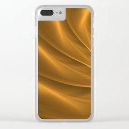 Gold Sahara. Hot desert. Sand dunes. Abstract golden spiral Clear iPhone Case