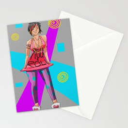 90's Chick Pin-Up Stationery Cards
