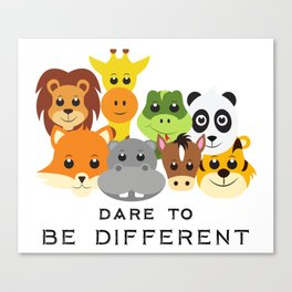 Dare to Be Different Gang of Animals Canvas Print