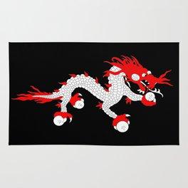 Dragon-A variation on the flag of Bhutan. Rug