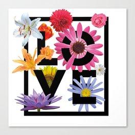 Love Flower Power Canvas Print