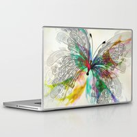 butterfly Laptop & iPad Skins featuring Butterfly by Klara Acel