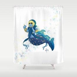 Globefish mermaid Shower Curtain