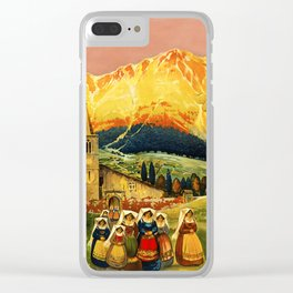 Vintage Abruzzo Italy Travel Clear iPhone Case