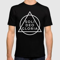 THE FIVE SOLAS: SOLI DEO GLORIA Mens Fitted Tee Black LARGE