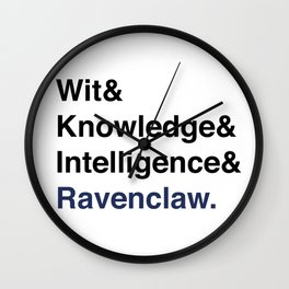 Modern Ravenclaw House Traits Wall Clock