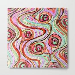 zakiaz sunburst cotton candy swirl Metal Print