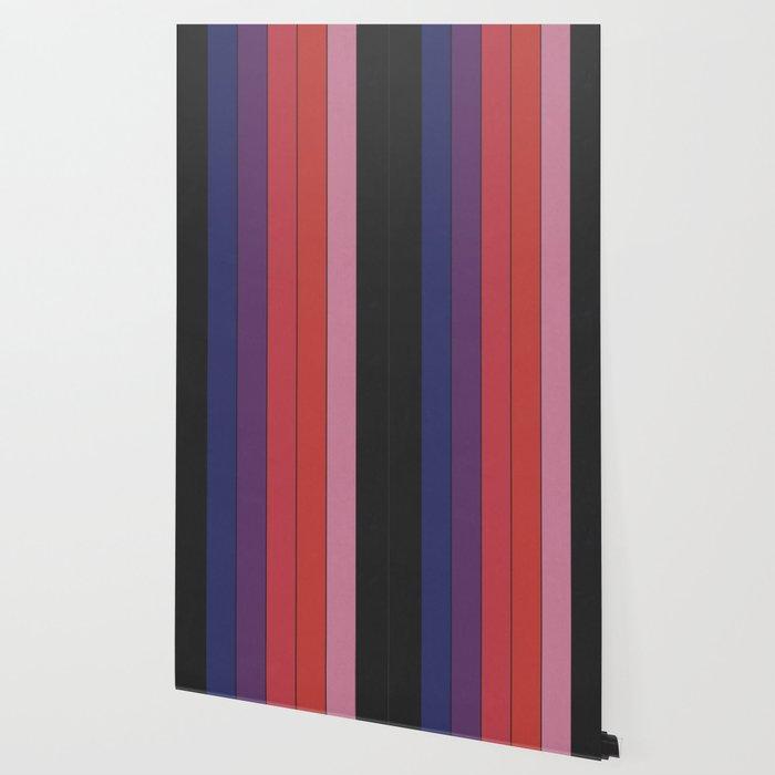 Five Colors and Black Wallpaper