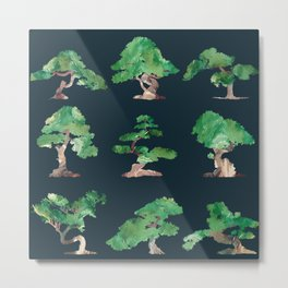 Bonsai Pattern Metal Print