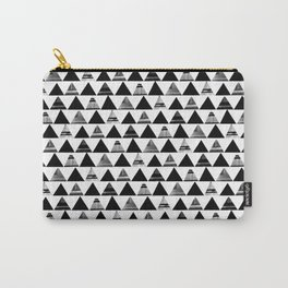 B/W Triangles Carry-All Pouch