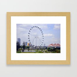 Around We Go Framed Art Print