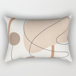 Abstract Line Movement III Rectangular Pillow