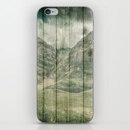 Rustic Country Wood Mountains Landscape iPhone Skin