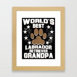 World's Best Labrador Retriever Grandpa Framed Art Print
