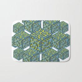Cubed Mazes Bath Mat