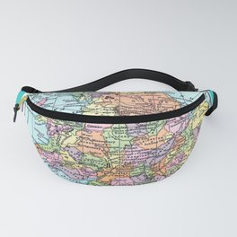 Vintage Map  of England and Wales Fanny Pack