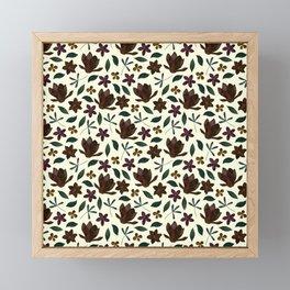 Fall Flower Garden Framed Mini Art Print
